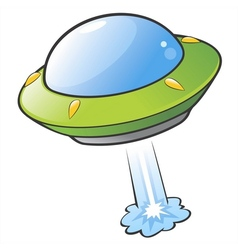 Cartoon Flying Saucer vector image vector image