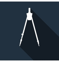 Compass icon with long shadow vector
