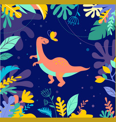 cute dinosaur background vector image vector image