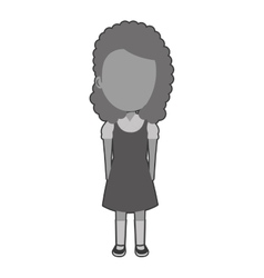 Girl student character isolated icon vector