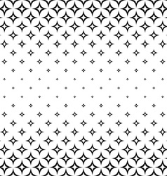 Monochrome seamless curved star pattern vector