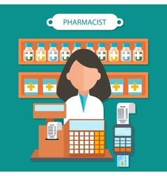 Pharmacist Concept Flat Design vector image