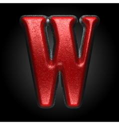 Red plastic figure w vector