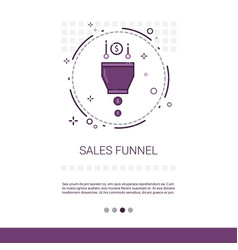 Sales funnel analysis concept finance data web vector