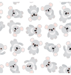 Seamless pattern - Funny cute koala on white vector image vector image