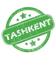 Tashkent green stamp vector