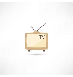 Television retro vector