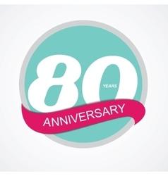 Template logo 80 anniversary vector