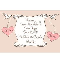 Wedding invitation or card vector
