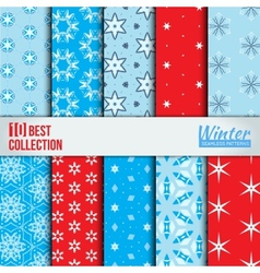 Winter backdrops collection vector image vector image
