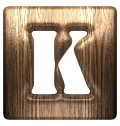 wooden figure k vector image