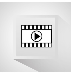 Film strip and movie design vector