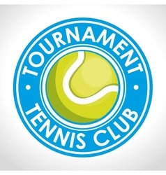 Tournament tennis club blue badge vector