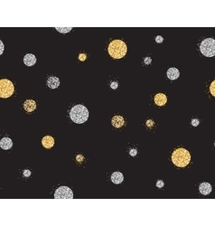 Shiny seamless background with golden and silver vector image