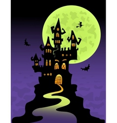 The scary castle vector