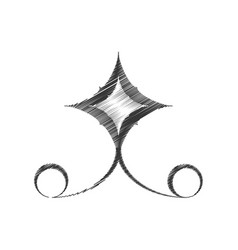 Drawing decorate ornate style swirl vector