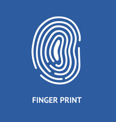 finger print card vector image