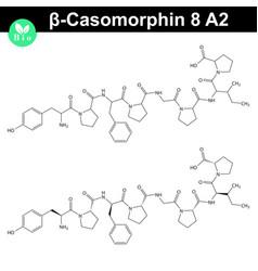 Beta casomorphin 8 a2 chemical structure vector