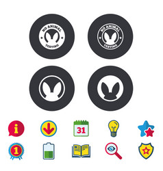 No animals testing icons non-human experiments vector