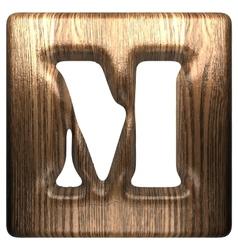 wooden figure m vector image