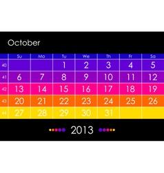 2013 October vector image