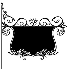 Ornate board vector image