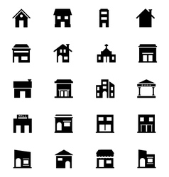 Building icons 6 vector