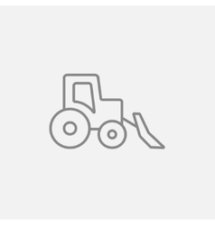 Bulldozer line icon vector
