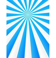 Blue and white rays abstract circus poster vector image