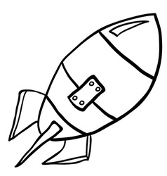 Black and white rocket vector