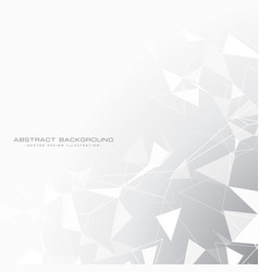 Abstract gray background with triangles in white vector