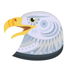 Bald eagle head logo decorative emblem vector