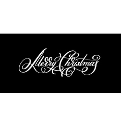 black and white hand lettering inscription Merry vector image vector image