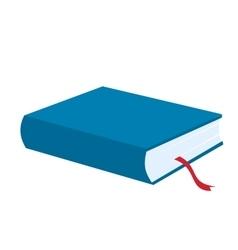 Blue book icon vector