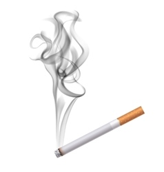 Cigarette dark smoke background vector