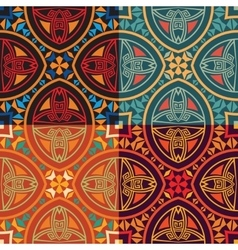 collection of four colorful tribal ethnic seamless vector image vector image