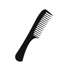 Comb black simple icon vector image vector image