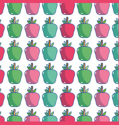 Delicious apple fruit to healthy life background vector
