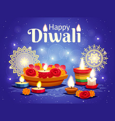 Diwali realistic background vector