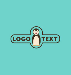 flat icon on background penguin logo vector image