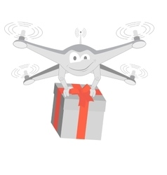 Fun drone with gif isolated vector