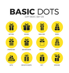 gift box flat icons set vector image