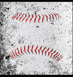 grunge baseball stitches vector image vector image