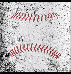 Grunge baseball stitches vector
