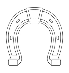 Horseshoe icon in outline style isolated on white vector