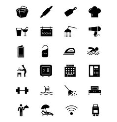 Hotel and restaurant icons 2 vector