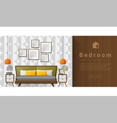 Interior design modern bedroom background 5 vector
