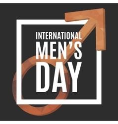 International Men Day vector image