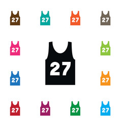 Isolated sleeveless tank icon singlet vector