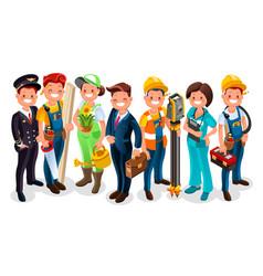 Labor day cartoon characters vector